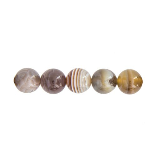 perle ronde agate botswana 8mm