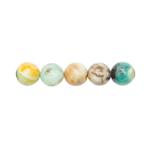 perle ronde amazonite multicolore 14mm