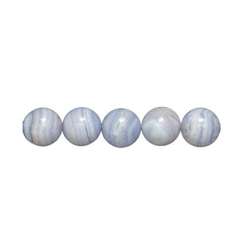 perle ronde calcédoine 14mm