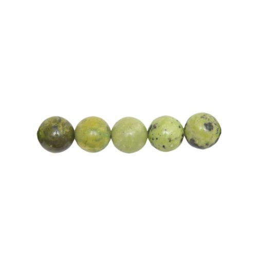 perle ronde chrysoprase citron 6mm