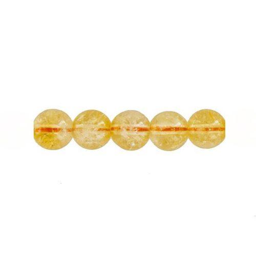 perle ronde citrine 12mm