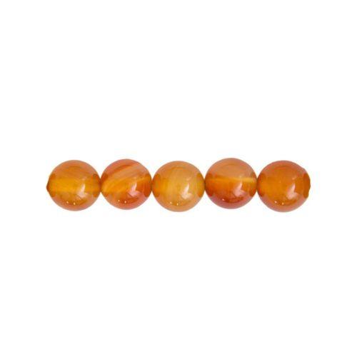 perle ronde cornaline 8mm