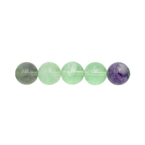 perle ronde fluorite multicolore 12mm