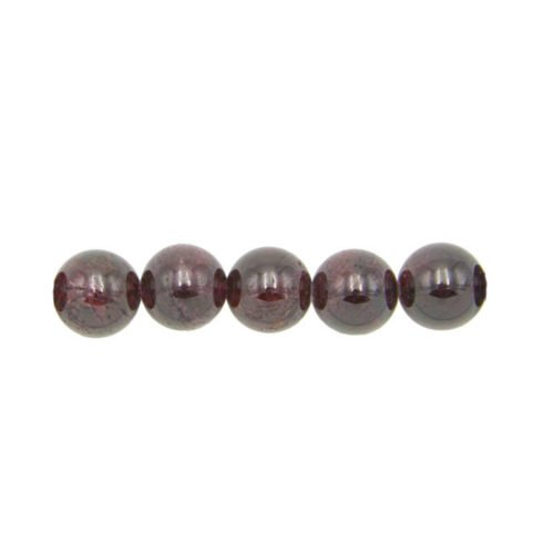 perle ronde grenat rouge 8mm