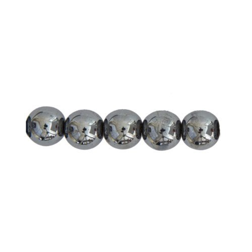 perle ronde hématite 12mm