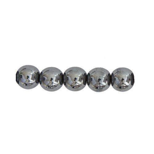 perle ronde hematite 8mm