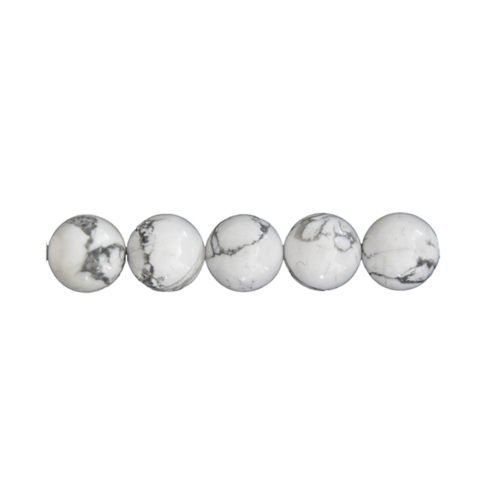 perle ronde howlite 12mm