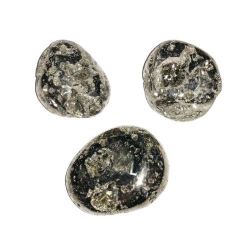 pierre roulée pyrite du pérou