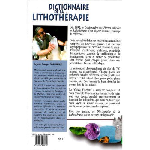 Dictionnaire de la lithothérapie - Edition Luxe