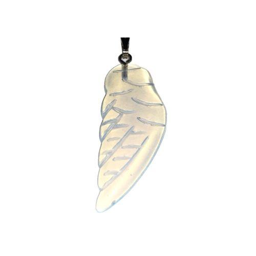 pendentif opale synthétique aile d'ange