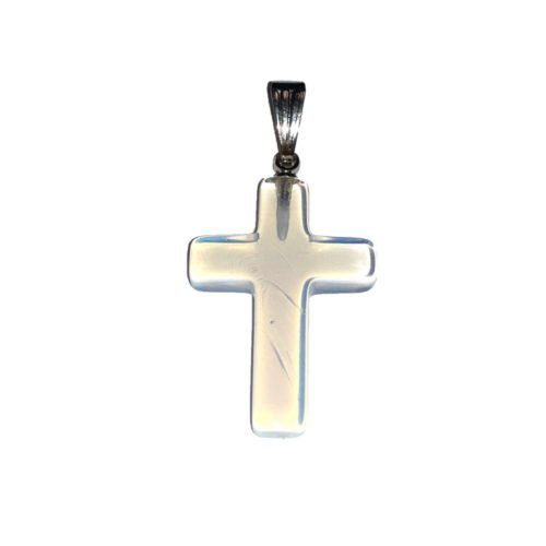 pendentif opale synthétique croix