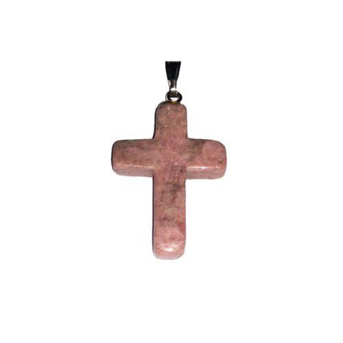 pendentif rhodonite croix