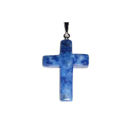 pendentif sodalite croix
