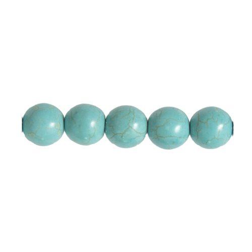 perle ronde howlite bleue 6mm