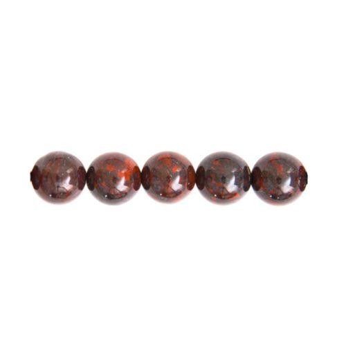 perle ronde jaspe bréchique 8mm