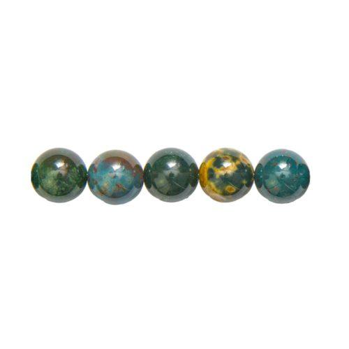 perle ronde jaspe héliotrope 12mm