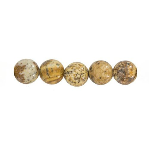 perle ronde jaspe paysage 14mm