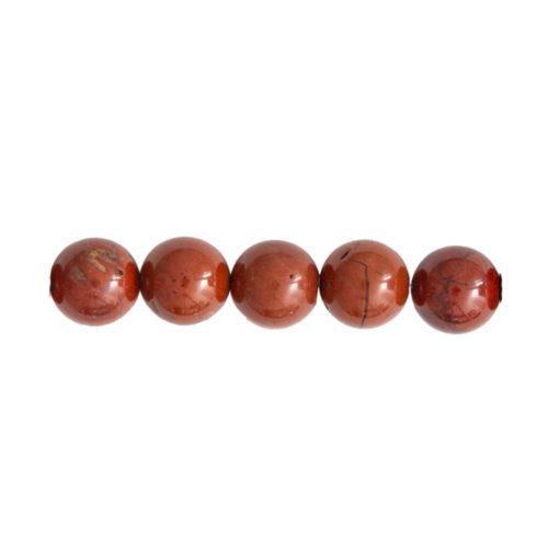 perle ronde jaspe rouge 12mm