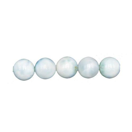 perle ronde larimar 8mm