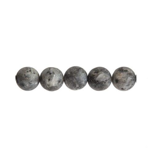 perle ronde larvikite 8mm