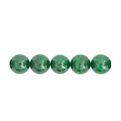 perle ronde malachite 14mm