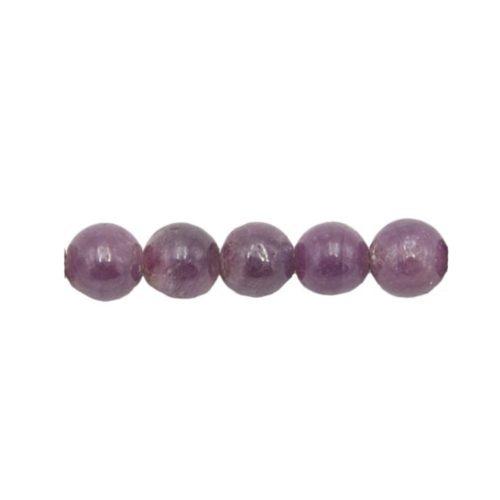 perle ronde rubis 6mm