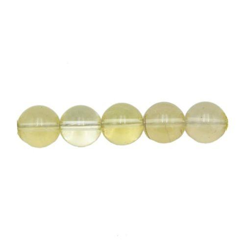 perle ronde topaze citron 10mm