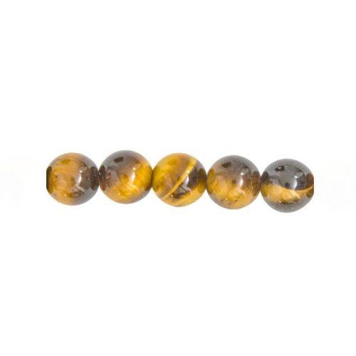 perles ronde oeil de tigre 8mm