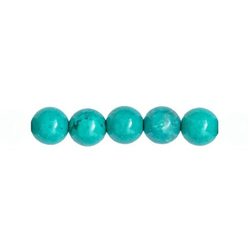 perle ronde turquoise 8mm