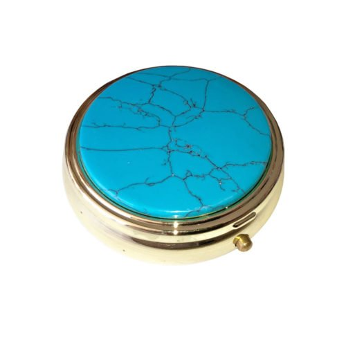 boite à pilules howlite bleue