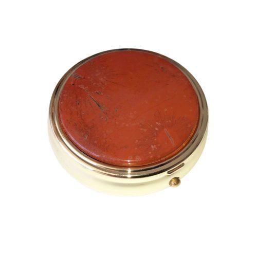 boite à pilules jaspe rouge