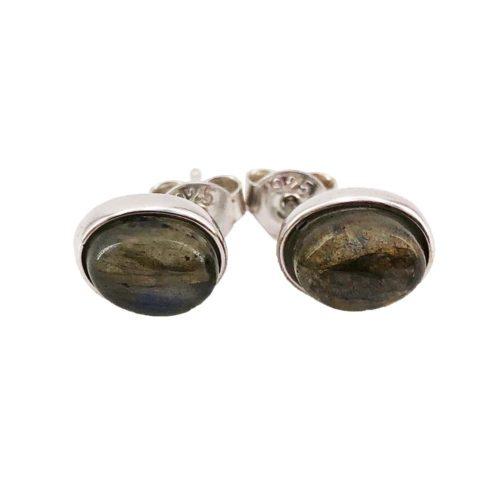 boucle oreille labradorite argent rodhie