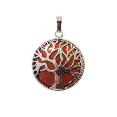 pendentif jaspe rouge arbre de vie