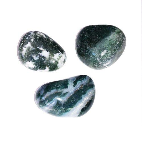 pierre roulée agate mousse