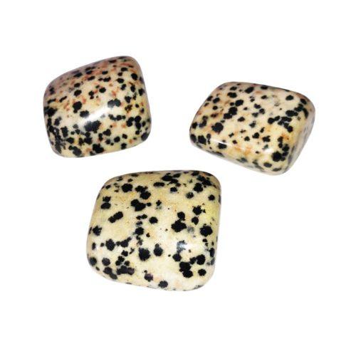 pierre roulée jaspe dalmatien