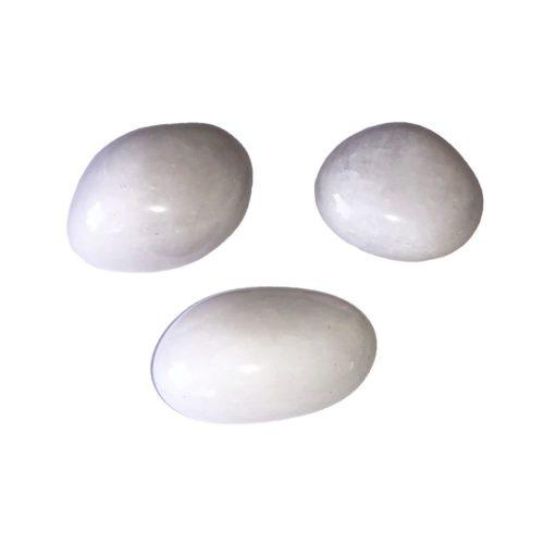 pierre roulée quartz neige