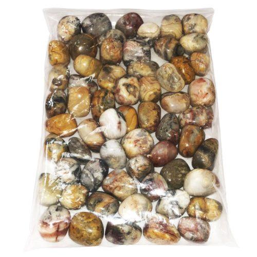sachet pierres roulées agate crazy lace 1kg
