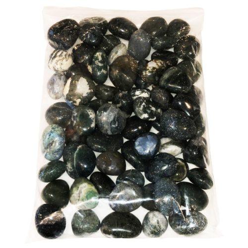 sachet pierres roulées agate mousse 1kg