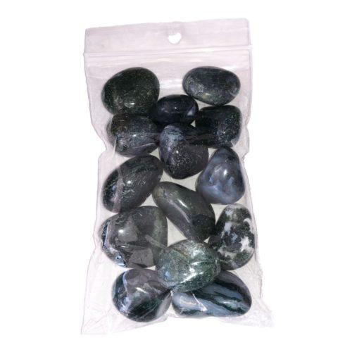 sachet pierres roulées agate mousse 250grs