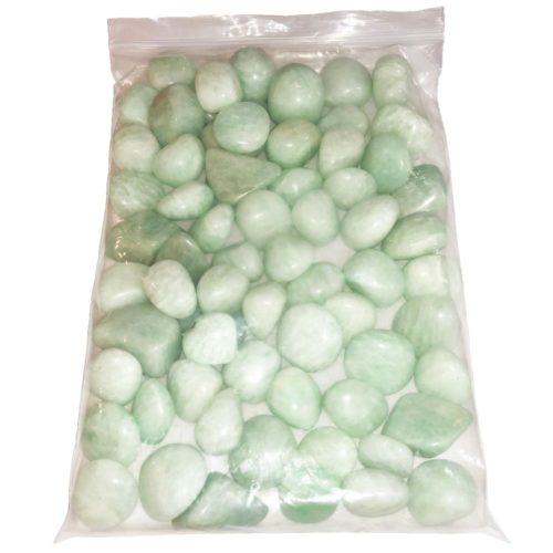 sachet pierres roulées amazonite 1kg