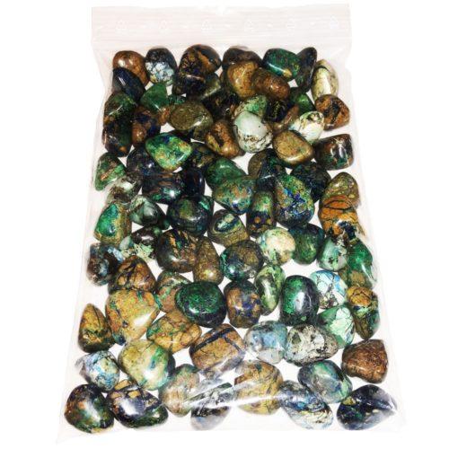 sachet pierres roulées azurite malachite 1kg