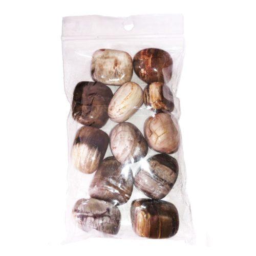 sachet pierres roulées bois fossilisés