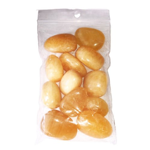 sachet pierres roulée calcite orange 250grs