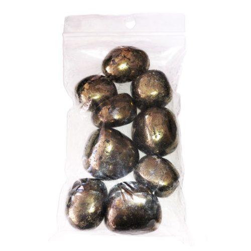 sachet pierres roulées chalcopyrite 250grs