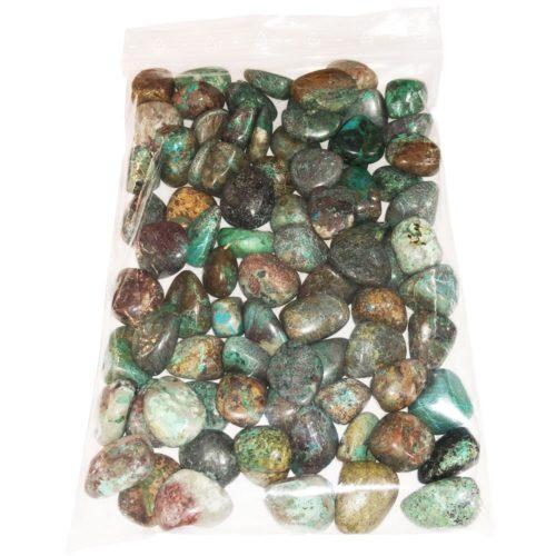 sachet pierres roulées chrysocolle turquoise 1kg