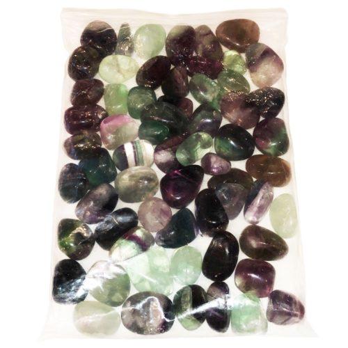 sachet pierres roulées fluorite multicolore 1kg