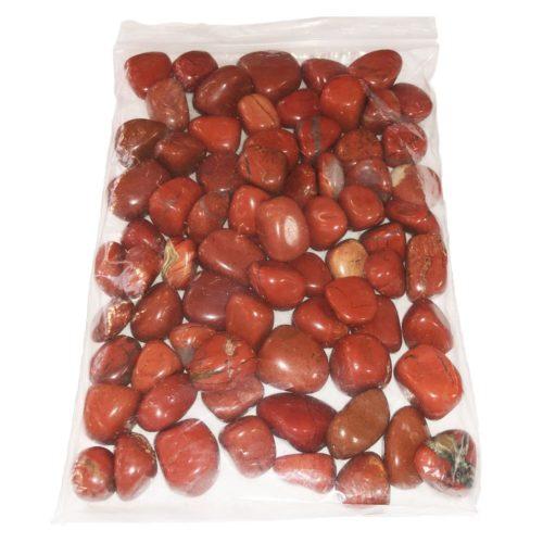 sachet pierres roulées jaspe rouge 1kg