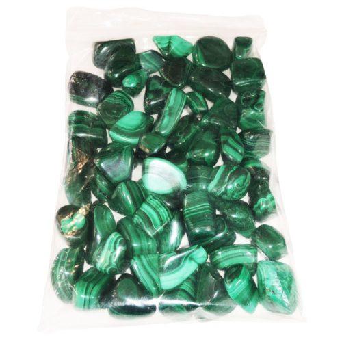 sachet pierres roulees malachite