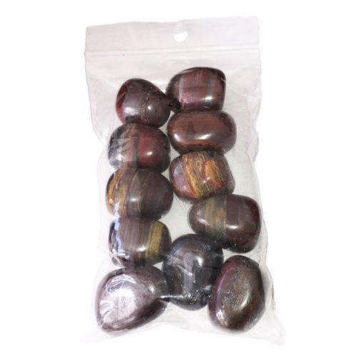sachet pierres roulées oeil de fer 250grs