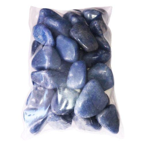 sachet pierres quartz bleu